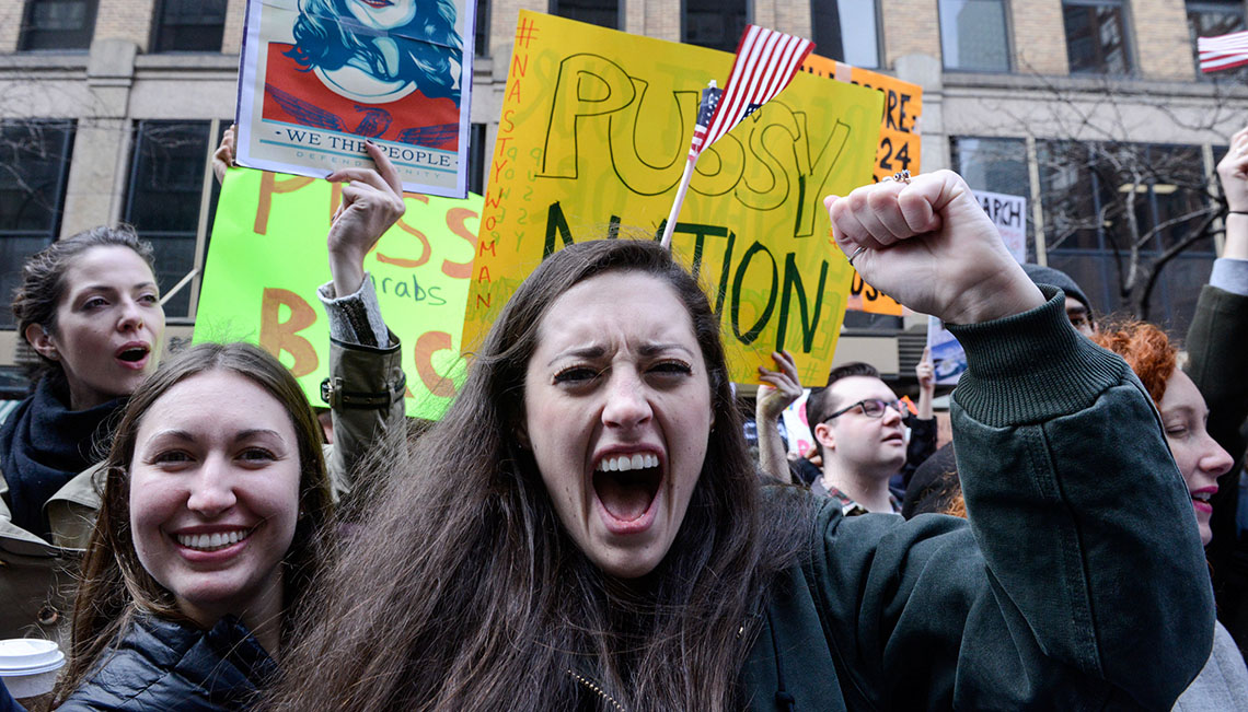 Some of the Most Bizarre Moments from Women's Marches Across the Country