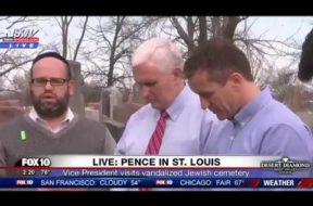Pence Condemns Anti-Semitism at Vandalized Jewish Cemetery