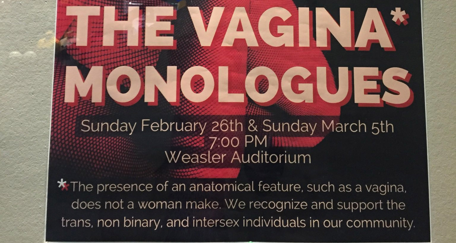 "At Performance of ""The Vagina Monologues"" at Marquette, Vaginas Optional"