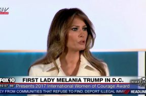 First Lady Melania Trump Speaks at State Dept. International Women of Courage Awards