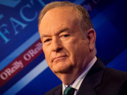 "FILE PHOTO: Fox News Channel host Bill O'Reilly poses on the set of his show ""The O'Reilly Factor"" in New York"