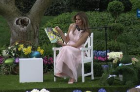 FLOTUS Reads To Children At The White House Easter Egg Roll
