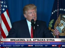 President Trump Announces Syria Attacks