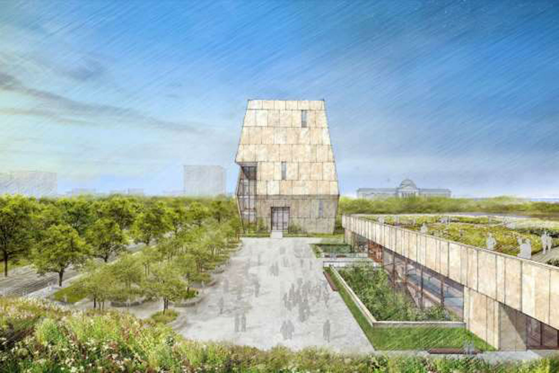 Obamas Unveil Design Of Presidential Center in Chicago