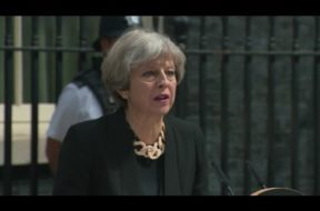 British Prime Minister Theresa May Speaks In Wake Of London Attack