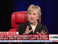 Clinton: 'I Take Responsibility for Every Decision I Made, but That's Not Why I Lost'