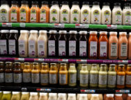 Juice drinks for sale are pictured inside a Whole Foods Market in the Manhattan borough of New York City