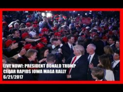 President Trump Speaks At Rally In Cedar Rapids, Iowa