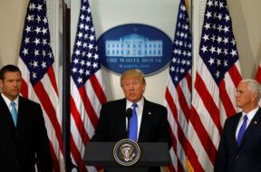Trump attends meeting of the Presidential Advisory Commission on Election Integrity in Washington