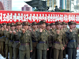 Servicepersons of the Ministry of People's Security express full support for the DPRK government statement