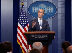 Miller discusses U.S. immigration policy at the daily press briefing at the White House in Washington