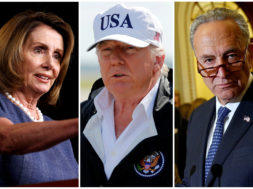 FILE PHOTO: A combination photo of House Minority Leader Nancy Pelosi President Donald Trump and Senate Minority Leader Chuck Schumer