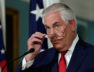 Secretary of State Rex Tillerson arrives to make a statement in Washington